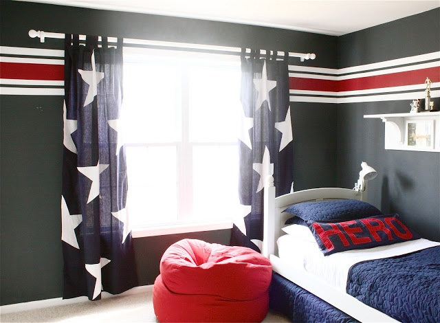 Blue Curtains blue curtains with white stars : 17 Best images about Red White & Blue Room on Pinterest