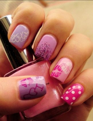 Inspiring picture fashion, girl, heart, ivaa stojcic, nail polish. Resolution: 500x502 px.