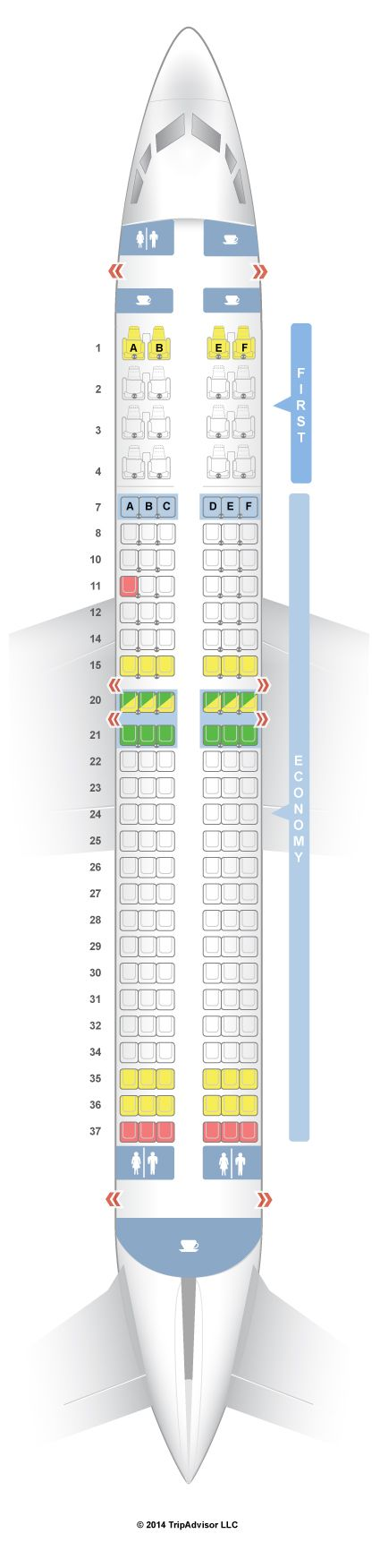 SeatGuru Seat Map United Boeing 737-800 (738) V2