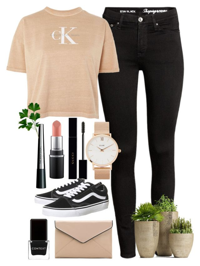 """""""<3"""" by hmastyle on Polyvore featuring Calvin Klein, La Diva, CLUSE, Gucci, Context, Vans and The Body Shop"""