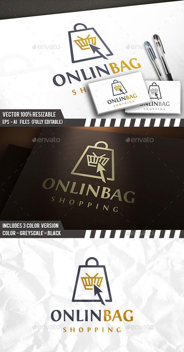 Shopping Online Logo - Symbols Logo Templates Download here : http://graphicriver.net/item/shopping-online-logo/15669793?s_rank=291&ref=Al-fatih