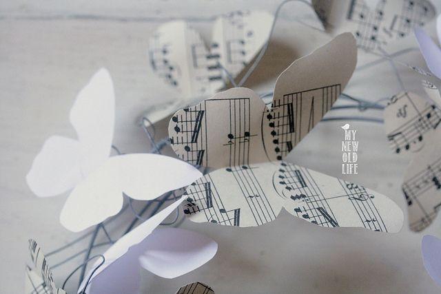Tutorial ghirlanda farfalle di carta by Eugenia di My new old life!
