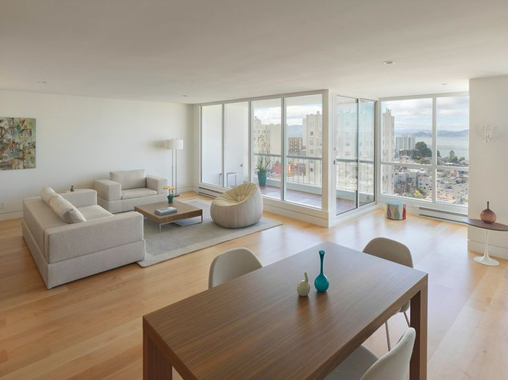 Interior:Minimalist Condominium Ideas With Stunning San Francisco Bay Views Plan On Russian Hill With Wonderful Interior Design Architecture...