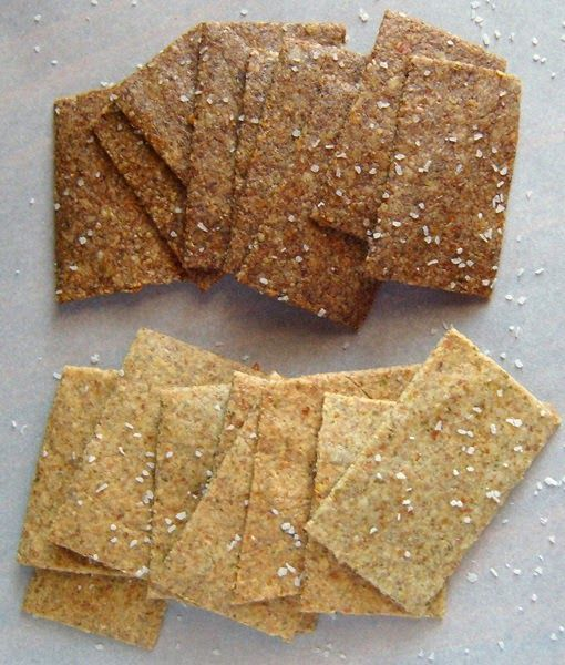 crispy low carb, sugar free, gluten free, nut and seed crackers recipe