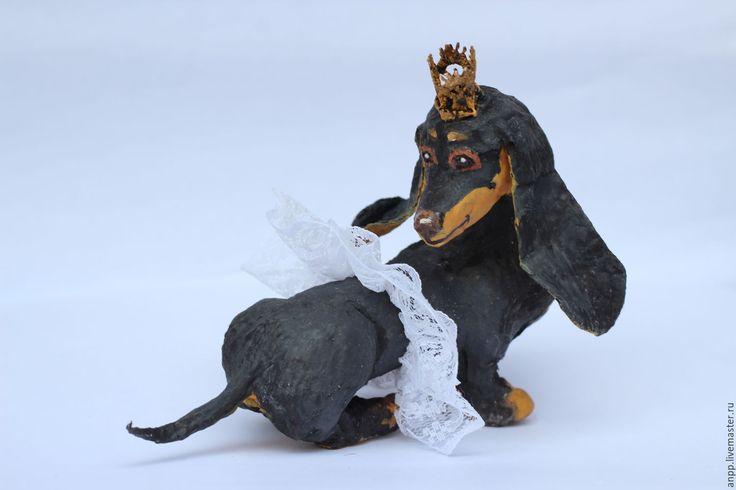 Купить Кукла интерьерная Такса - такса, такса игрушка, черный, собака, собачка