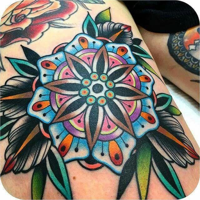 kirk_jones AMAZING Traditional tattoo flowers