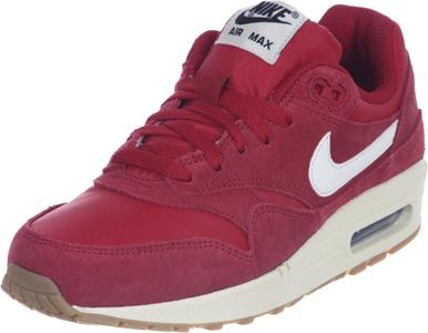 nike air max 1 chaussures coloris rouge blanc marron
