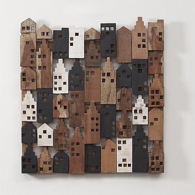 Wood Barrel Wall Decor : Village wood wall art crate and barrel pieces