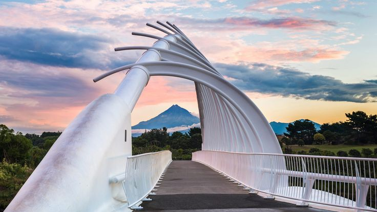 Te Rewa Rewa Bridge near New Plymouth, New Zealand (© Matthew Williams-Ellis/Aurora Photos) – 2018-02-11 [http://www.bing.com/search?q=Te+Rewa+Rewa+Bridge&form=hpcapt&filters=HpDate:%2220180211_0800%22]