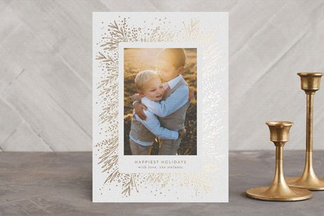 """Amazing Frame"" - Floral  #merry #happyholidays #foil #gold #rosegold #merrychristmas #photocards #minted #holidayscards #cards #christmas #holiday #happynewyear #cheers #love #merrybright #religious #bright #joy #clean #simple #modern #elegant #glitter"