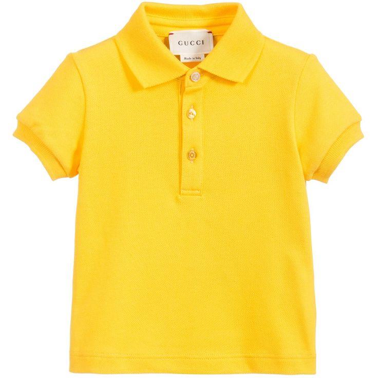 Baby Boys Yellow Polo Shirt, Gucci, Boy
