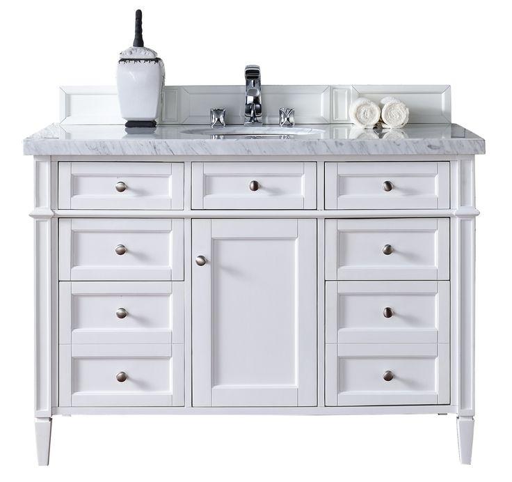"Brittany 48"" Cottage White Bathroom Vanity James Martin"
