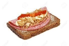Smørrebrød med salami