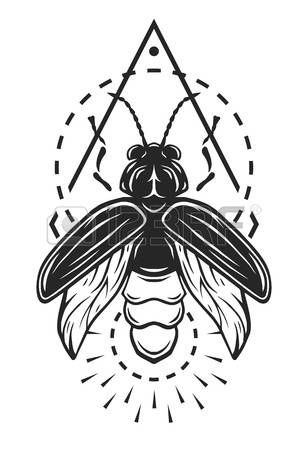 Lightening Bug Firefly Tattoo