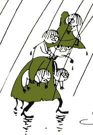 Snufkin and several Woodies - from the Moomin books by Tove Jansson