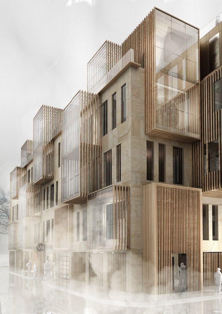 Neues Mehrfamilienhaus im UNESCO-Weltkulturerbe in Riga von United Riga Architec…
