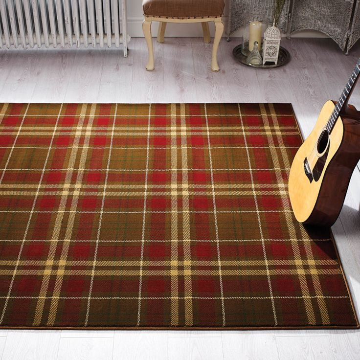 The Glen Kilry Rug In Tan Feature An Impressive Tartan Design Which Will  Add Warmth And Style To Your Room. Power Loomed With Heatset Polypropylene  Pile, ...