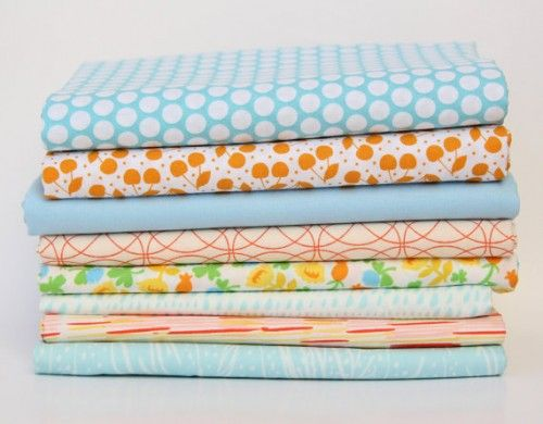 Here's a coordinated mixed print bundle from Fresh Squeezed Fabrics with all my favorite color trends!