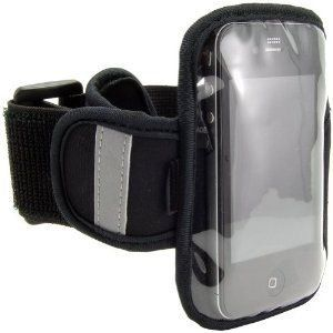"Navitech Black / Silver Neoprene Water Resistant Sports Gym, Jogging / Running Armband Case with ""Light Reflection Strip"" + ""key holder"" for the Apple iPod Touch 1st, 2nd, 3rd, 4th (released 2010), & 5th generation (released 2012) Gen / Generations inc 8 GB, 16 GB, 32GB, 64GB models + the NEW IPOD NANO 7TH GEN / GENERATION. Armband has been made specifically for the (Apple iPhone) with relevant ports and functions accessible through thinner layer of neoprene. The armband will fit arms 99%…"