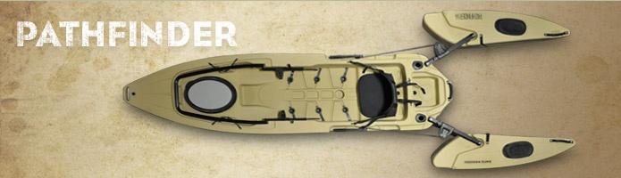 Pathfinder Model Kayak With Built In Outriggers For Stability When Standing Http Www Freedomhawkkayaks Com Ocean Kayak Kayak Fishing Kayaking