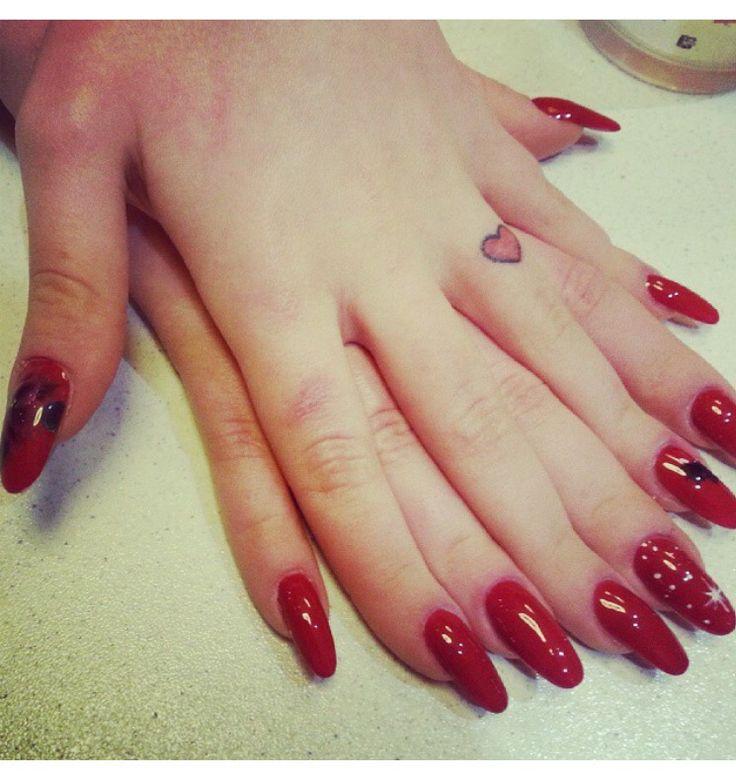#ricostruzione unghie #nails #red passion #christmas #christmas style #christmas nails