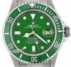Rolex Submariner Sport Watch Green Hulk 16610 40mm Stainless Steel