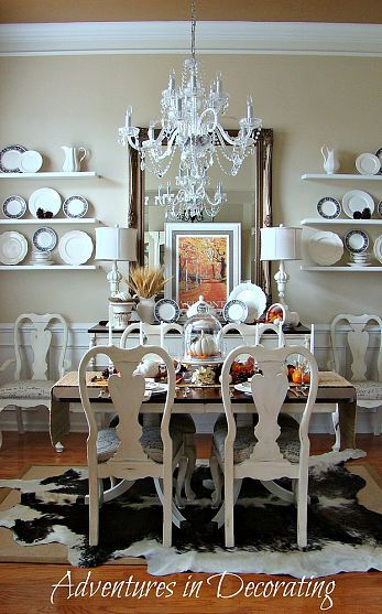Fall Dining Room Inspiration! Queen Anne Chairs @Carla Gentry Taul