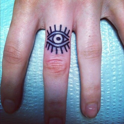 evil eye tattoo: Tattoo Ideas, Old Schools, Third Eye, Evileye, Fingers Tattoo, Finger Tattoos, Evil Eye Tattoo, Rings Tattoo, Tattoo Ink