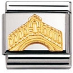 Nomination: Composable Classic aus Edelstahl und 18K-Gold (Rialtobrücke).