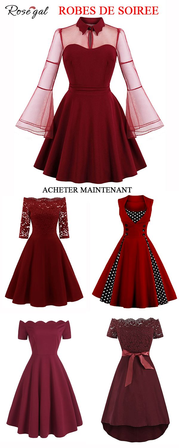 2db3c6c4d8f Rosegal red prom dress retro vintage fashion dress for women for formal  occasion home coming dress