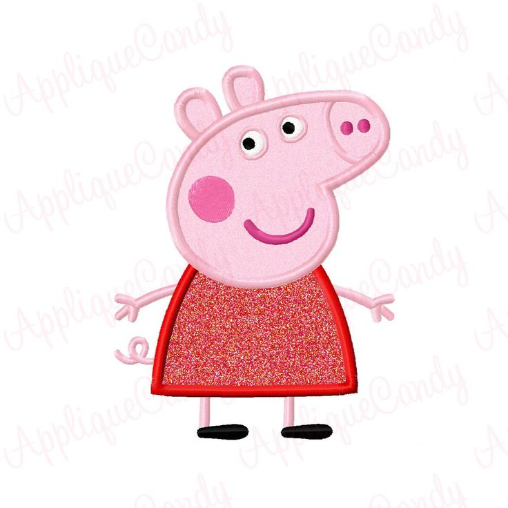 Pep Pig Applique Embroidery Design 4x4 5x7 6x10 INSTANT DOWNLOAD by AppliqueCandy on Etsy https://www.etsy.com/listing/233187640/pep-pig-applique-embroidery-design-4x4