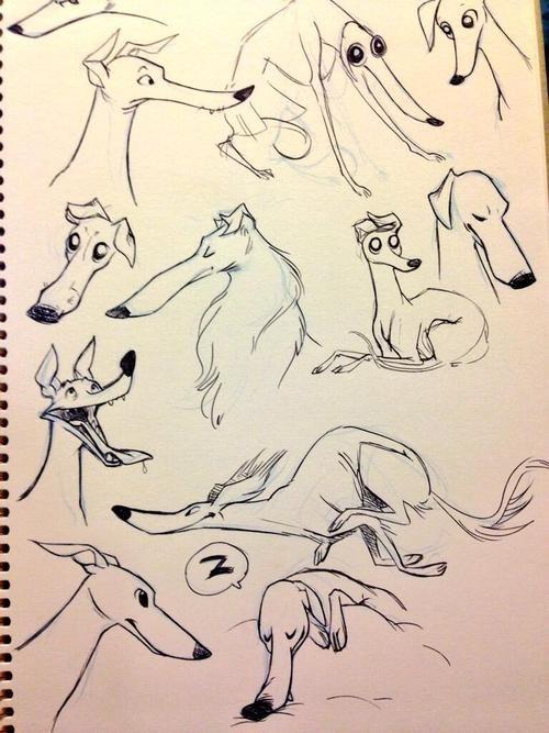 Animated greyhounds!