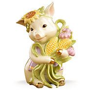 841533-Sunflower Pig Figurine