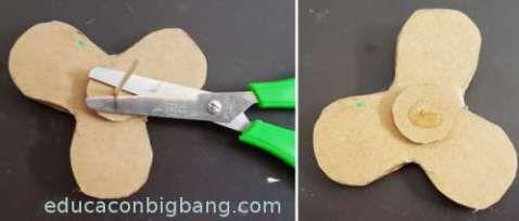 como hacer un fidget spinner casero