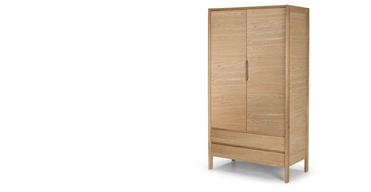 Ledger Oak Wardrobe   made.com