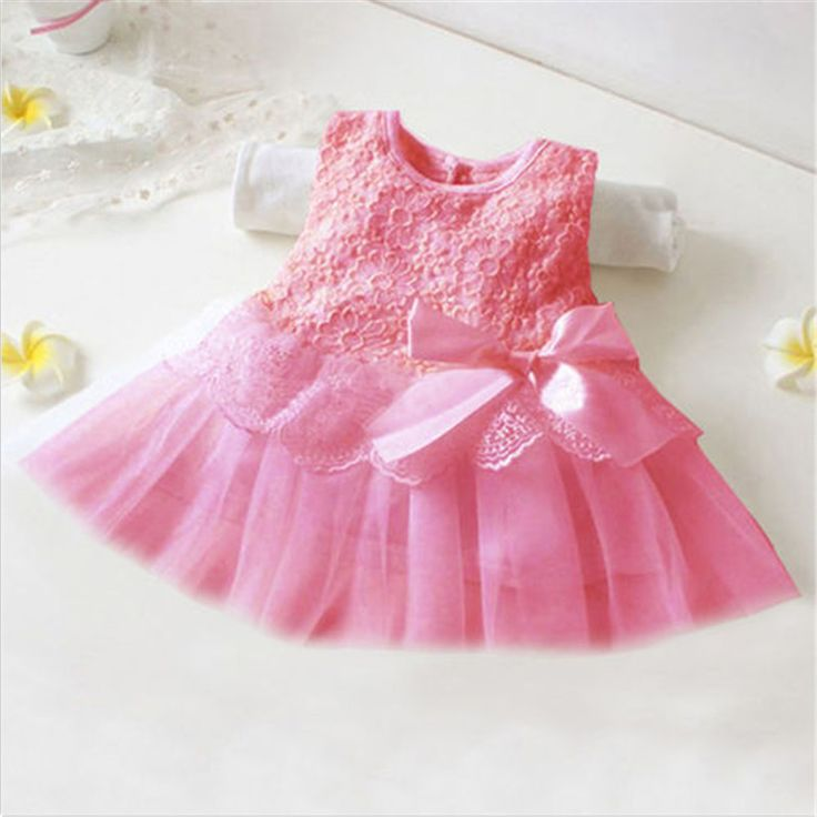 >> Click to Buy << Lace Flower Bowknot Cute Baby Girls Mini Dress Infant Baptism Dresses Gowns Princess Style Tutu Dress #Affiliate