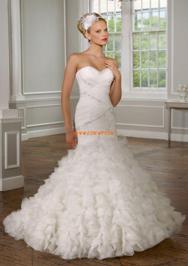 Tyl Elegantní & moderní Šněrování Svatební šaty 2014