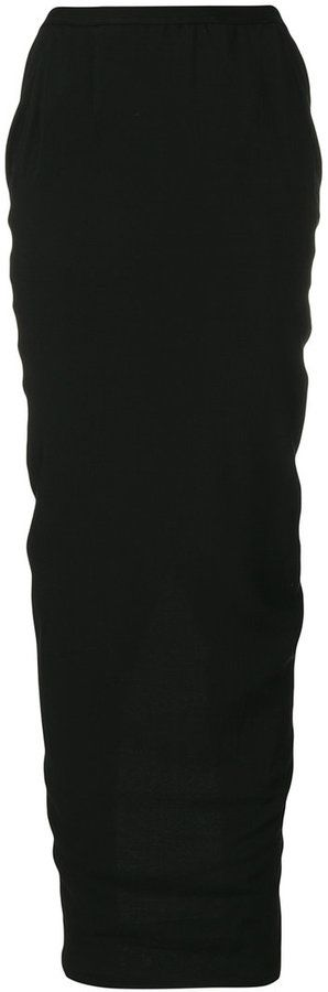 Rick Owens maxi tube skirt