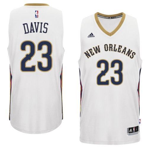 Anthony Davis New Orleans Pelicans adidas 2014-15 New Swingman Home Jersey  –