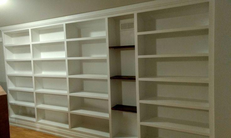 15 ft built-in bookcase. Custom Design and built by Michael Simardone/ Simardone Design