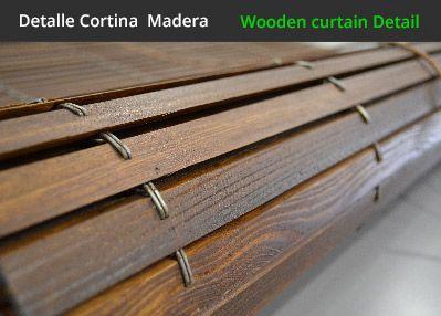 Detalla de persianas alicantinas de madera cortinadecor - Cortinas de madera para puertas ...