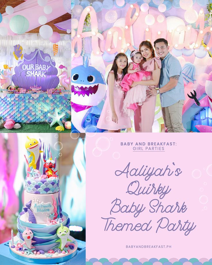 Aaliyah's Quirky Baby Shark Themed Party Baby girl