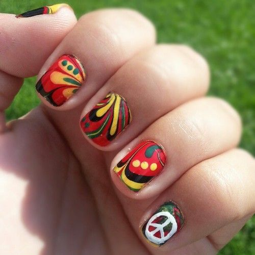 The 25 best rasta nails ideas on pinterest bob marley nails hippie masa images of nolalolaa my favorite color combos rasta nails nailart prinsesfo Choice Image