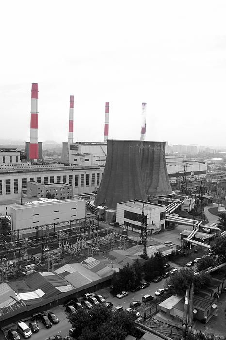 View from the thermal power station in Moscow (Russia)