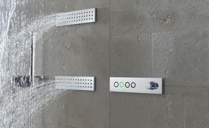 Duch hochmoderne Armaturen kann die Wassertemperatur durch Knöpfe eingestellt werden