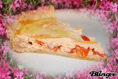 Tarte+au+thon,+poivron+rouge+à+la+ricotta+&+mozzarella