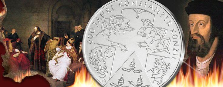 Konstanzer Konzil - Jan Hus - BRD 10 Euro Gedenkmünze