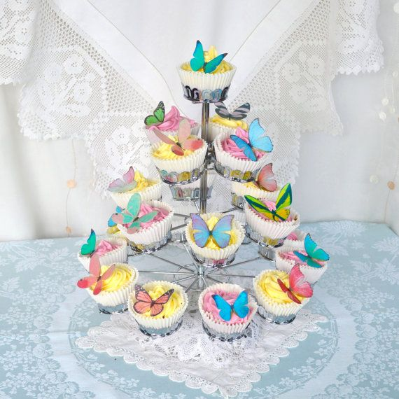Edible Butterflies Multicoloured Wafer Rice by WicksteadsEatMe