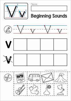 Phonics Letter of the Week V Letter v worksheets