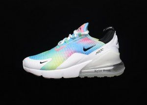 best sneakers cc9bb 309f4 Womens Nike Air Max 270 Flyknit White Rainbow AH6789 700 Sneakers